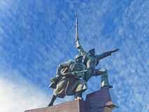 Monument to war in Sevastopol town Stock Photo