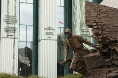 Monument to the Warsaw Uprising Fighters Stock Photography
