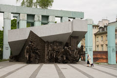 Monument to the Warsaw Uprising Fighters, Poland Stock Photography