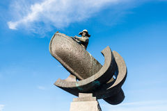 Monument to whale hunters in Tromso, Norway Royalty Free Stock Image