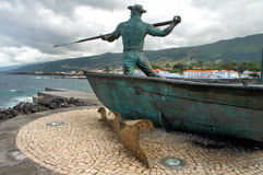 Monument to the whales fisherman royalty free stock images