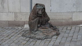 A monument to a wise old fox. Monument the fox in the center of Stockholm Royalty Free Stock Photos