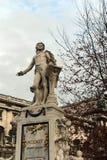 The monument to Wolfgang Amadeus Mozart in the Burggarten in Vienna. VIENNA, AUSTRIA - NOVEMBER 30, 2012:The monument to Wolfgang Amadeus Mozart in the Royalty Free Stock Photos