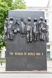 Monument to the women of World War II in Whitehall, London Stock Photography