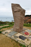 Monument to the World War II, Cotes-d'Armor, France.  Royalty Free Stock Images