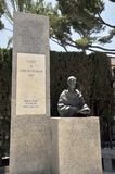 Monument to the writer Jos Mara Pman in the city park of Cadiz. Stock Images