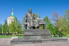 Monument to the writer Nikolai Leskov. Russia, Orel. Royalty Free Stock Photos
