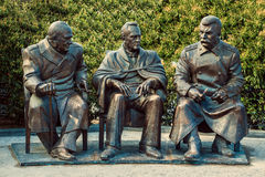 Monument to the Yalta Conference. Royalty Free Stock Photography