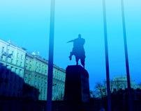 Monument to Yuri Dolgoruky. A beautiful monument to Yuri Dolgoruky in Moscow, photographed in close-up Stock Photos