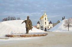 Monument to Yuri Dolgoruky in Dmitrov, Russia Royalty Free Stock Photography