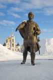 The Monument to Yuri Dolgoruky, Dmitrov, Russia Royalty Free Stock Images