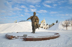 The Monument to Yuri Dolgoruky, Dmitrov, Russia Stock Photos