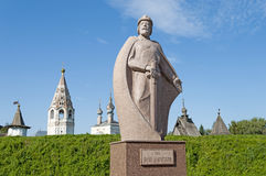 Monument to Yuri Dolgoruky, the founder of Yuriev-Polsky city. The monument to Russian prince Yuri Dolgoruky, the founder of the city Yuriev-Polsky, Russia royalty free stock photos
