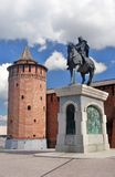 Monument to Yuri Dolgoruky. Kremlin in Kolomna, Russia. Royalty Free Stock Image