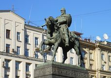 Monument to Yuri Dolgoruky. In Moscow Stock Image