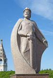 Monument to Yuri Dolgoruky in Yuriev-Polsky. The monument to Russian prince Yuri Dolgoruky, the founder of the city Yuriev-Polsky, Russia stock images
