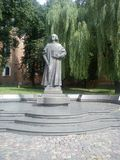 Monument to Yuri Drohobych in the town of Drogobych. Photo Stock Photos