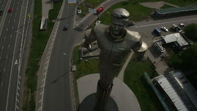 Monument to Yuri Gagarin stock footage