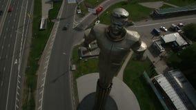 Monument to Yuri Gagarin stock footage