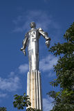 Monument to Yuri Gagarin, the first person to travel in space. It is located at Leninsky Prospekt in Moscow, Russia Royalty Free Stock Image
