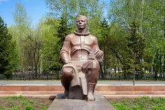 Monument to Yuri Gagarin in Komsomolsk-on-Amur Royalty Free Stock Images