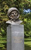 Monument to Yuri Gagarin in Varna. Bulgaria stock photography