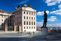 Monument of Tomas Garrique Masaryk on Hradcany Square. Stock Photography