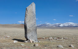 Monument on the tomb of the ancient Turkic Royalty Free Stock Photos