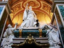 Monument and Tomb of Pope Leo XOII, Basilica of John Lateran, Rome. Leo XIII died on July 20, 1903 at the age of 93 and was briefly buried in the grottos of Royalty Free Stock Photography