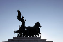 Monument on the top of Vittoriano, Capitol hill, Rome Royalty Free Stock Photography