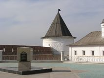 Monument and Tower Of Kazan Kremlin Stock Photography