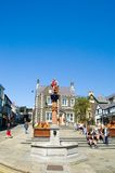 Monument and town square. Conway,wales,uk Stock Photography