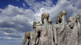 Monument The tragedy of peoples in Victory Park on Poklonnaya Hill Gora, Moscow, Russia