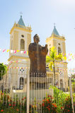 Monument in tribute to Dom Joao Batista Costa in front of Cathed. PORTO VELHO, BRAZIL - JUNE 15, 2017: Monument in tribute to Dom Joao Batista Costa in front of Stock Image