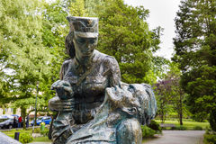 A monument in tribute to the Polish women-soldiers Royalty Free Stock Image