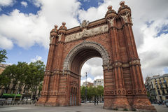 Monument, Triumpal arch, Arc de Triomf, by Josep Vilaseca i Casanovas. Built as the main access gate for the 1888 Barcelona World Stock Photography