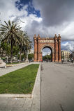 Monument, Triumphal arch, Arc de Triomf, by Josep Vilaseca i Casanovas. Built as the main access gate for the 1888 Barcelona World Royalty Free Stock Photography