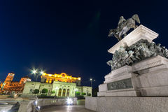 Monument of the Tsar Liberator, National Assembly and Alexander Nevsky Cathedral in city of Sofia Stock Images