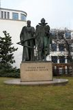 Monument of Tycho Brahe and Johannes Kepler in Prague, Czech Rep stock photos