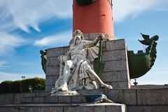 Monument under Rostral column Royalty Free Stock Image