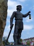 Monument Ural-Bergmänner - Entdeckerkupferablagerung oberes Pyshma, Swerdlowsk-Region, Russland Stockbild
