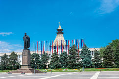 Monument V.I. Lenin in Astrakhan. Royalty Free Stock Image