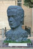 Monument of Vahid as head with charachters his Stock Photos