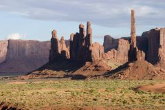 Monument Valley_02. Monument valley in the four corners area of Utah Stock Images
