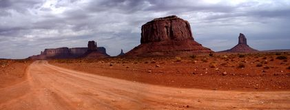 Monument Valley. After the rain, Arizona (panorama stock photography