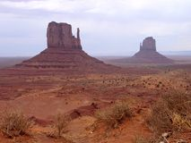 Monument Valley. The two Mittens in Monument Valley, Arizona, U.S.A royalty free stock photography