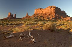 Monument Valley. Amazing messas and bluffs form the giant stone formations that are Monument Valley National Park, heartland of the Native American Navajo Royalty Free Stock Image