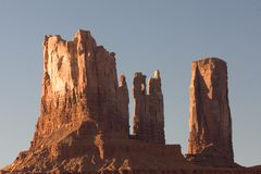 Monument Valley. Amazing messas and bluffs form the giant stone formations that are Monument Valley National Park, heartland of the Native American Navajo Stock Photography