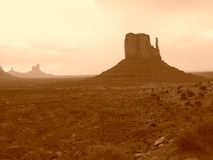 Monument Valley. One of the two Mittens in Monument Valley, Arizona, U.S.A stock photo