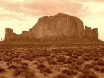 Monument Valley. This weird mountain is called The Sleeping Giant because of his shape (on the right you can see the head of the giant); location: Monument stock image